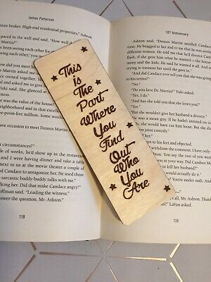 Wooden Bookmark Inspirational Page Keeper Motivational Reading Gift Childrens