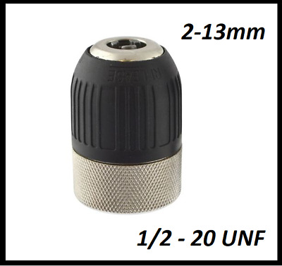 2 - 13MM  Keyless Drill Chuck 1/2 - 20 UNF QUICK CHANGE HIGH QUALITY