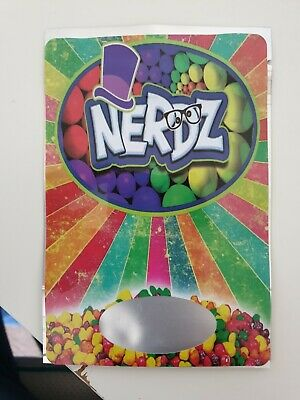 100x Nerdz Mylar Bag Cali tin label CaliLabels