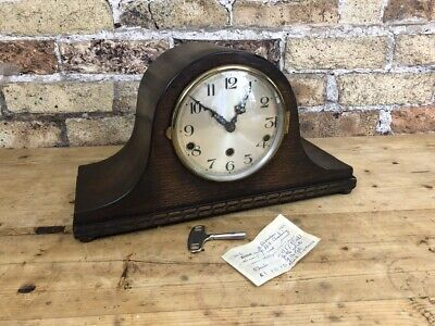 Napoleon Hat Double Chiming Clock 1930's Fully Working Westminster & Whittington