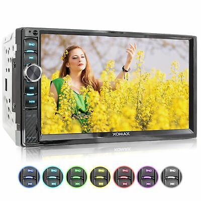 """Rds Autoradio 6,5"""" Touch Mp5 Video Monitor Bluetooth Usb Sd Mp3 Aux Doppel 2Din"""