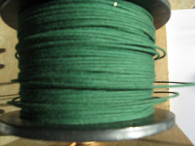 1920's Emerald Green Radio loop antenna wire, DeForest and more. 20AWG 90ft