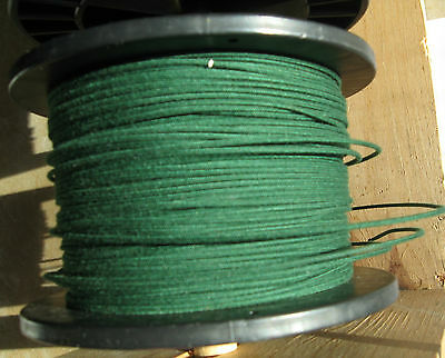 1920's Radio Loop antenna wire 18 Awg 19/30 stranded  DeForest Green by the ft.
