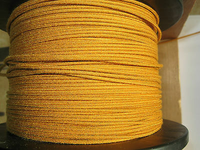 1920's Radio Loop antenna wire 18 Awg 19/30 stranded  Yellow/Gold - by the ft.