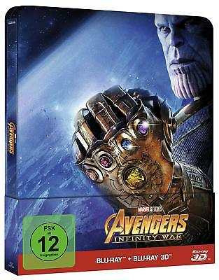 Avengers: Infinity War (3D + 2D Blu-ray Steelbook) TITLE ON SPINE - NEW / SEALED