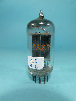 one rare ECC83 12AX7 D getter made in England orange label, tested near NOS tube