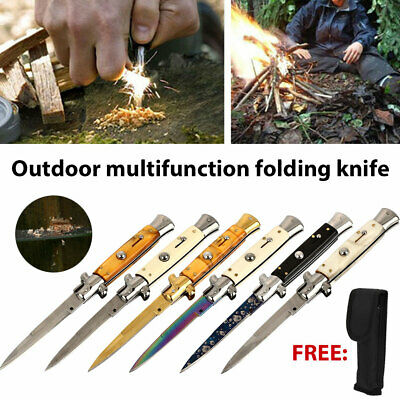 Tactical EDC Spring Assisted LED Multifunction Pocket Knife Survival MULTI TOOL
