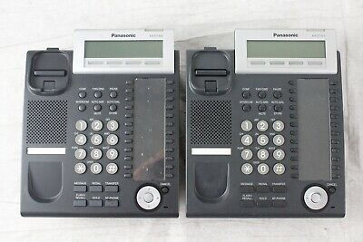 Lot of 2 Panasonic KX-DT333 24 Button Display Phones - Broken Stand (No Handset)