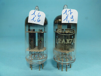 one pair ECC83 12AX7S RTC, FRS code, close matched near NOS tube