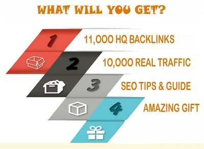 Cheap SEO Package +11000 high DA & HQ backlinks + 10000 real traffic