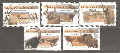 2013   Namibia  -  Sg  1225 / 1229  -  Large Antelopes   -  Used - (Lot A)