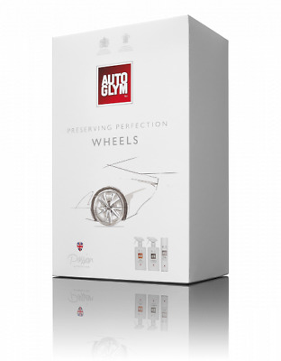 Genuine Autoglym Perfect Wheels Collection 3pc Valeting Kit Fathers Day Gift