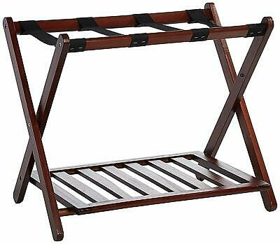 Luggage Rack Stand 2 Shelf Suitcase Holder Storage Bag Travel Folding Organizer