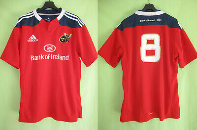 Maillot Rugby Munster 2013 Adidas Bank Of Ireland Jersey #8 England - L