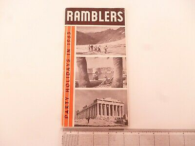 Ramblers Association Party Holidays 1963 Walking Brochure/Booklet *As Pictures*