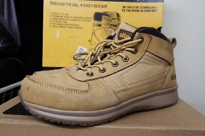 ee67fc0e6de SITE SANDSTONE SAFETY Trainer Boots Wheat S1 P Src Size Uk 8 Eu 42 ...