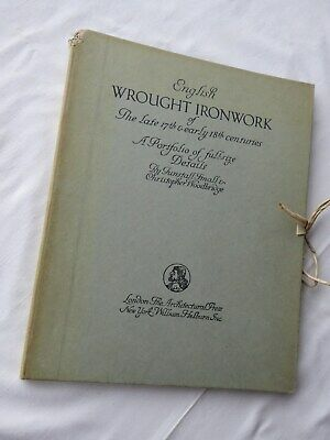 Book. English Wrought Ironwork of late 17th/early 18thC. Small/Woodbridge. c1925