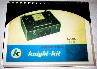 Manual & Data Charts Knight 600 KG-600A Testers (83YX635/6 works with 83YX142/3)