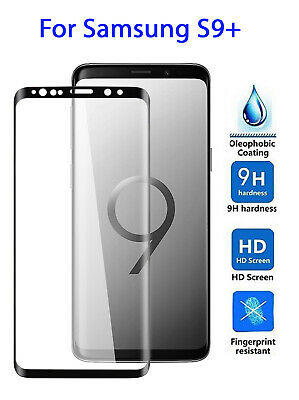Samsung Galaxy S9 Plus Tempered Glass Full LCD Screen Protector Curved Black