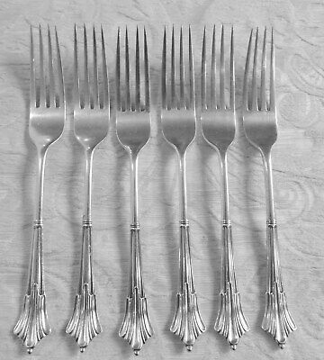 6 Dinner Forks Silver Plate Albany Pattern Army & Navy c1890 Forchette Sheffield