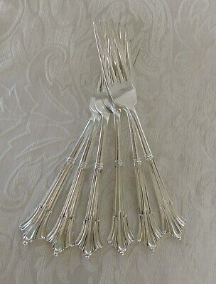 Set of 6 Dinner Forks Silver Plate Albany Pattern  M & W c1870's 6 forchette Alb