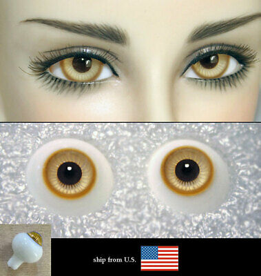 14mm amber color high quality glass bjd doll eyes dollfie minifee JS-01 shipUS