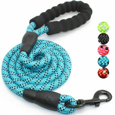Dog Rope Lead Leash Water Resistant Non Pull Puppy UK