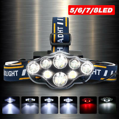 90000LM T6 LED Headlamp Head Light Flashlight Rechargeable Head Torch Lamp AU