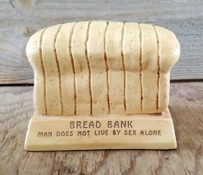Vintage Plastic Bank Man Does Not Live By Sex Alone By Paula Sillisculpts Bread