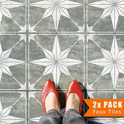 ZARZIS Star Boho Geometric Tile Stencil for Bathroom Patio Kitchen Floors Walls