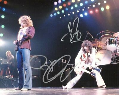REPRINT - ROBERT PLANT - JIMMY PAGE Led Zeppelin Signed  8 x 10 Glossy Photo RP