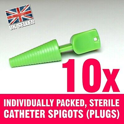 10 Catheter plugs sterile, fits all catheters and sizes.