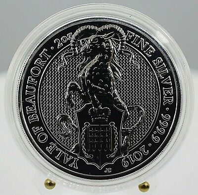 U.K. 2019 Queens Beasts Series - The Yale of Beaufort 2 Oz Silver Coin