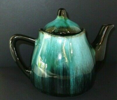 VINTAGE BMP Made in CANADA Individual Teapot BLUE MOUNTAIN POTTERY DRIP GLAZE!