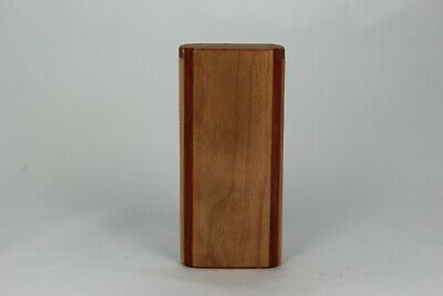 "4"" Cherry Wood Dugout One Hitter Slide Top With Gold Anodized Aluminum Bat"