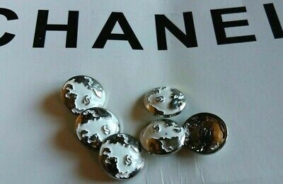 Chanel  Buttons Lot Of  6   ,Size 18 Mm Logo Cc Metal