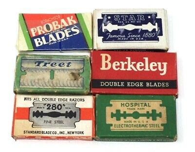 6 Box LOT Safety Razor Blades : Probak / Star / Treet NRA Code NEW NOS