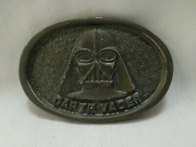 Vintage 1977 Star Wars Darth Vader Belt Buckle by The Leather Shop