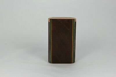 """3""""  Walnut Wood Dugout One Hitter Slide Top With Solid Brass Bat"""