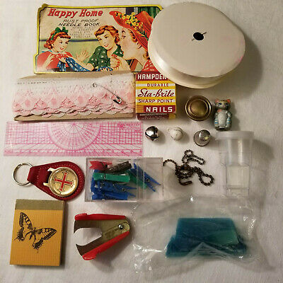 Junk Drawer Lot Vintage to Current Items Misc Stuff Sewing & Crafts