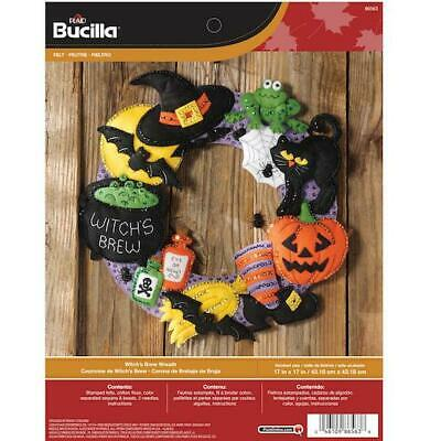 "Bucilla 17"" Felt Applique Kit - Witch's Brew Wreath"
