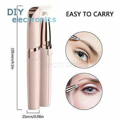 Electric Hair Remover Face Eyebrow Trimmer Brows Razor Painless Epilator US