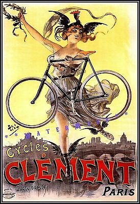 "1890s /""Saving Bicycles/"" Poulain Vintage Style French Bicycle Racing Poster 24x32"
