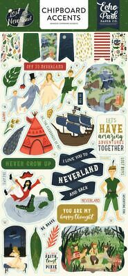 ECHO PARK Lost in Neverland 6x13 Chipboard Accents*Scrapbook Embellishments