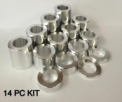 """Wheel Axle Spacer Kit, I.d. 3/4""""  O.d. 1 1/8"""" 14 Spacers, Harley, Aluminum-6061"""