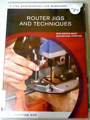 ROUTER JIGS & TECHNQUES by B. MAAS  DVD  Woodworking Crafts-Region 4 Aust/NTSC