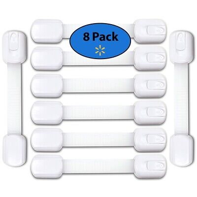 12 Pack Child Safety Locks Baby Childproofing Latches for Any Cabinets Drawers