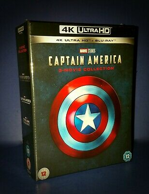 Captain America 3 Movie Collection Trilogy 4K Uhd Blu Ray  * See My Steelbook