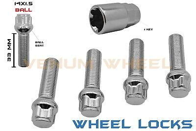 4PC 12X1.25 AODHAN BLACK LOCKING LUG BOLT FIT Jeep CHEROKEE LIMITED TRAILHAWK