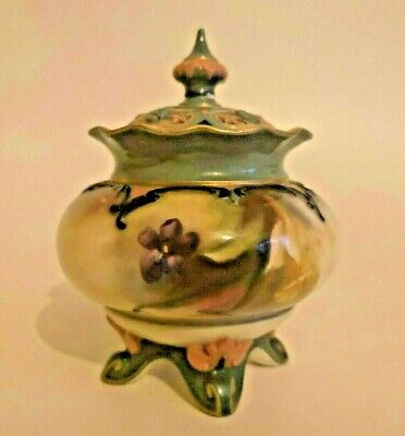 Royal Worcester Hadley Ware Hand Painted Roses Daffodil Pot Pourri Vase